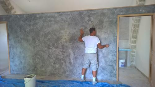 D coration murale base de chaux chantiers r alis s for Stuc a la chaux toupret